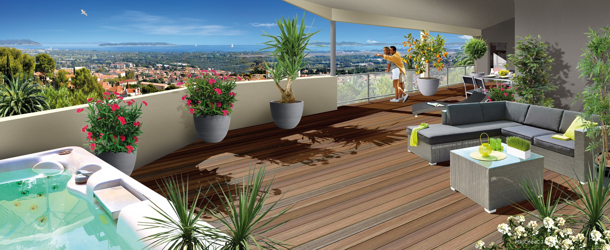 Programmes neufs appartements neufs vendre hy res for Vue terrasse